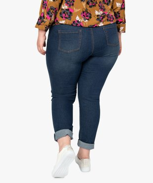 Jean femme extensible coupe Slim vue3 - GEMO (G TAILLE) - GEMO