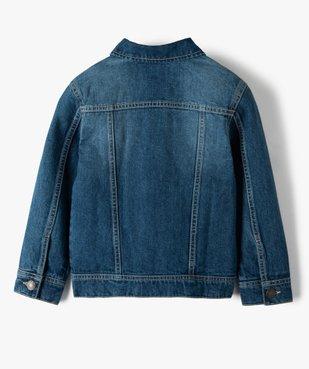 Veste garçon en jean légèrement délavée vue3 - Nikesneakers (ENFANT) - Nikesneakers
