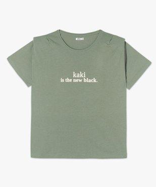 Tee-shirt femme imprimé avec petites épaulettes vue4 - GEMO (G TAILLE) - GEMO