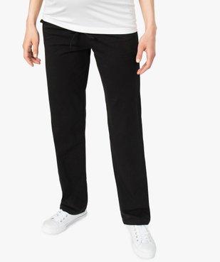 Pantalon de grossesse droit en jersey avec lien à la taille vue1 - GEMO C4G MATERN - GEMO