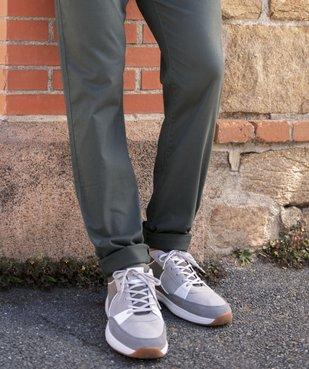 Baskets homme style skateshoes multimatières à lacets vue6 - GEMO (CASUAL) - GEMO