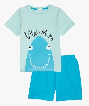 Pyjashort garçon bicolore avec motif requin vue1 - GEMO (ENFANT) - GEMO