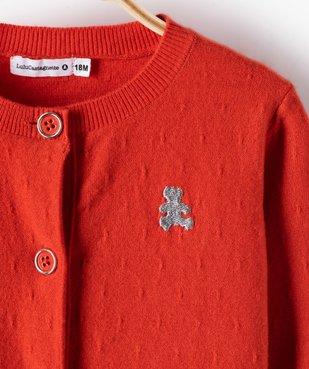 Gilet bébé fille avec boutons fantaisie – Lulu Castagnette vue2 - LULUCASTAGNETTE - GEMO