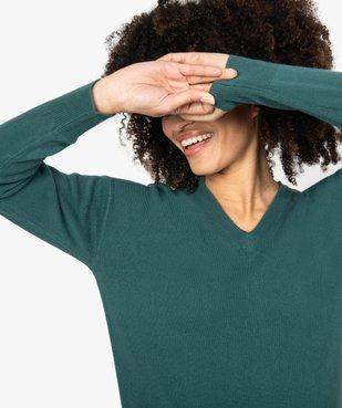 Pull femme à col V en maille ultra douce vue2 - GEMO (MAILLE) - GEMO