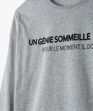 Pyjama garçon en jersey de coton motif camouflage vue2 - GEMO (JUNIOR) - GEMO