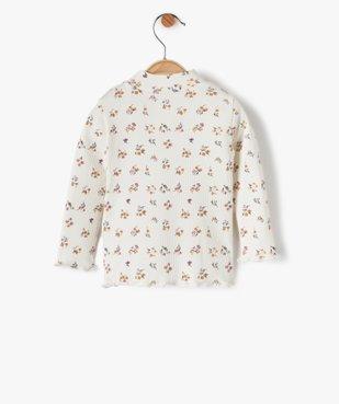 Tee-shirt bébé fille en maille côtelée à motifs fleuris vue3 - Nikesneakers C4G BEBE - Nikesneakers