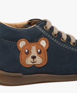 Chaussures premiers pas bébé garçon motif ourson vue6 - GEMO(BEBE DEBT) - GEMO