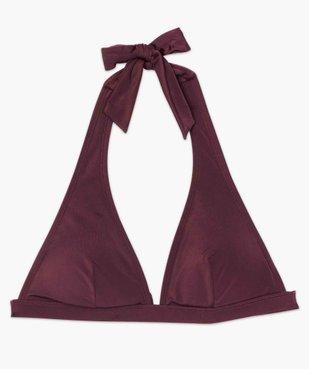 Haut de maillot de bain femme triangle uni vue4 - GEMO (PLAGE) - GEMO
