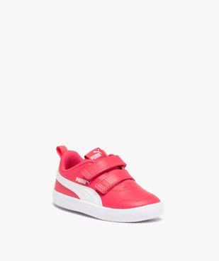 Tennis fille bicolores à scratch – Puma Courtflex vue2 - PUMA - Nikesneakers