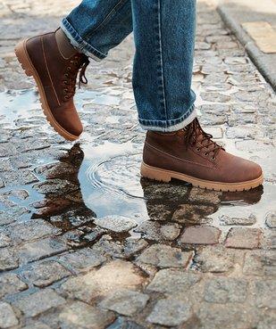 Boots homme à doublure chaude - Les Supaires vue6 - GEMO (CASUAL) - GEMO