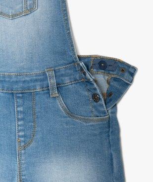 Salopette fille en jean coupe courte vue2 - GEMO (ENFANT) - GEMO