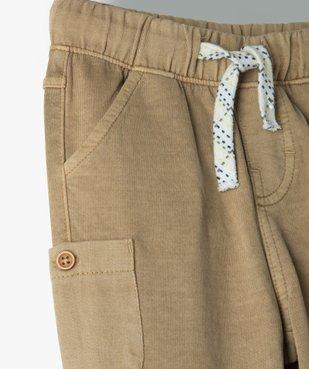 Pantalon bébé garçon en maille avec poches fantaisie vue2 - GEMO(BEBE DEBT) - GEMO