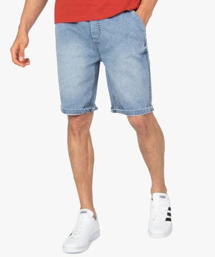Bermuda homme en toile extensible aspect denim vue1 - Nikesneakers (HOMME) - Nikesneakers