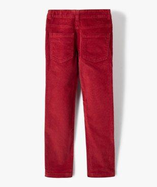 Pantalon garçon 5 poches en velours côtelé vue4 - GEMO (ENFANT) - GEMO