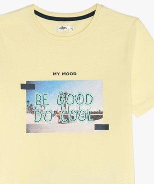 Pyjashort garçon avec photo et inscription sur l'avant vue2 - GEMO (JUNIOR) - GEMO