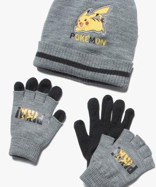 Ensemble garçon : bonnet + gants + écharpe - Pokemon vue3 - POKEMON - GEMO