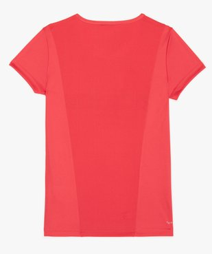 Tee-shirt fille respirant avec empiècement mesh au dos - Adidas vue2 - ADIDAS - GEMO