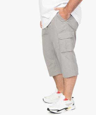 Pantacourt homme en toile unie avec larges poches vue1 - GEMO (G TAILLE) - GEMO
