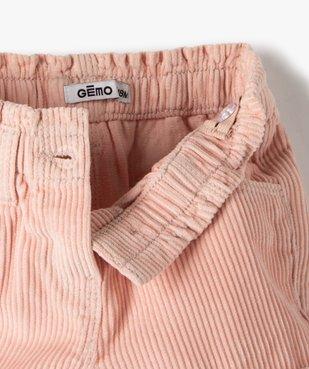 Short bébé fille en velours grosses côtes vue2 - GEMO(BEBE DEBT) - GEMO