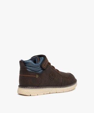 Boots garçon à col rembourré fermeture lacets et scratch vue4 - GEMO (ENFANT) - GEMO