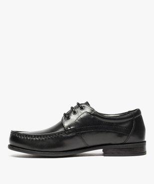 Mocassins homme à lacets dessus et intérieur cuir vue3 - Nikesneakers(URBAIN) - Nikesneakers