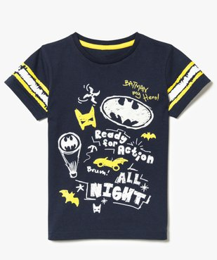 Tee-shirt marine imprimé - Batman vue2 - BATMAN - GEMO