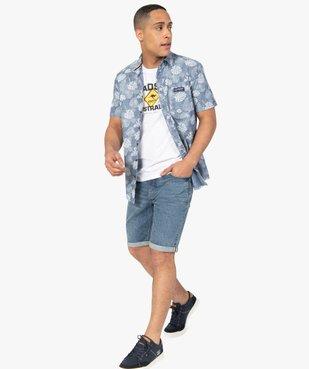 Chemise homme à manches courtes imprimé feuillage - Roadsign vue5 - ROADSIGN - GEMO
