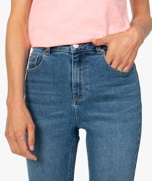 Jean femme en stretch coupe Skinny taille haute vue2 - GEMO(FEMME PAP) - GEMO