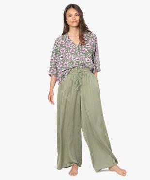 Bas de pyjama femme large et satiné vue5 - GEMO(HOMWR FEM) - GEMO