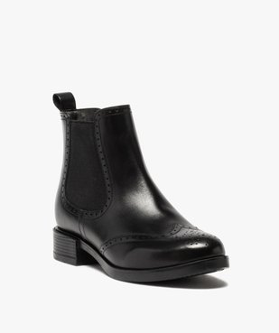 Boots femme style chelsea unis à bout fleuri vue2 - Nikesneakers (CASUAL) - Nikesneakers
