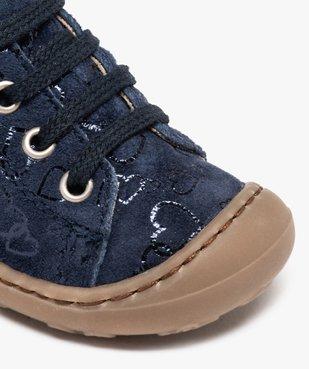 Chaussures premiers pas bébé fille dessus cuir retourné vue6 - Nikesneakers(BEBE DEBT) - Nikesneakers
