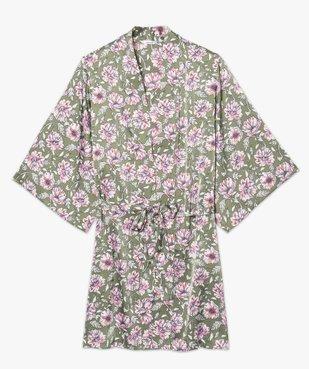 Veste d'intérieur femme à motifs fleuris vue4 - GEMO(HOMWR FEM) - GEMO