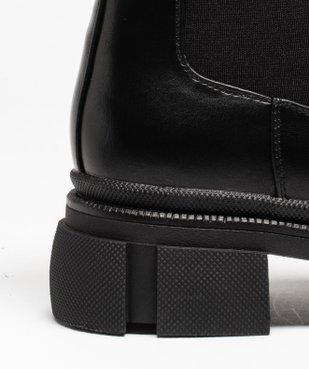 Boots femme unies style rock à semelle plateforme crantée vue6 - GEMO (CASUAL) - GEMO