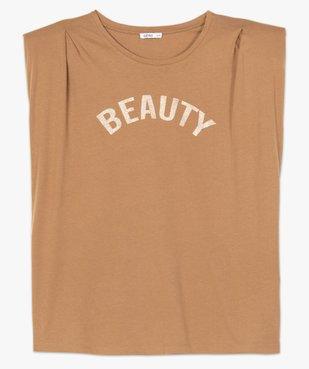 Tee-shirt femme à épaulettes avec message pailleté vue4 - Nikesneakers (G TAILLE) - Nikesneakers