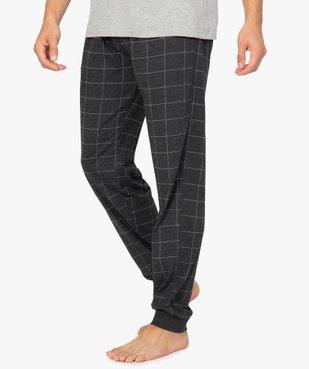 Pantalon de pyjama homme en jersey à taille élastique vue1 - GEMO(HOMWR HOM) - GEMO