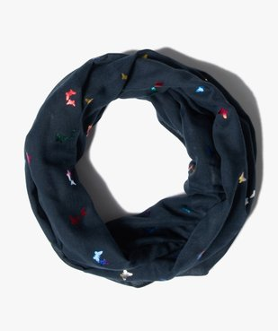Foulard fille forme snood avec papillons multicolores vue1 - Nikesneakers C4G FILLE - Nikesneakers