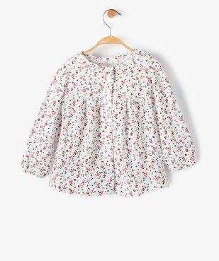 Blouse bébé fille à motifs fleuris et rayures pailletées – Lulu Castagnette vue6 - LULUCASTAGNETTE - GEMO