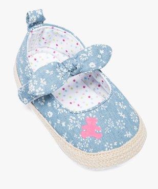 Babies en textile et semelle de corde - Lulu Castagnette vue5 - LULUCASTAGNETTE - GEMO