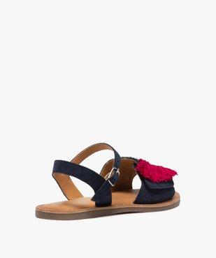 Sandales fille en cuir avec perroquet brodé vue4 - GEMO (ENFANT) - GEMO