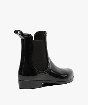 Bottes de pluie unies noires style chelsea boots vue4 - GEMO (EQUIPT) - GEMO