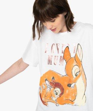Tee-shirt femme oversize avec motif XXL - Disney vue2 - DISNEY DTR - GEMO