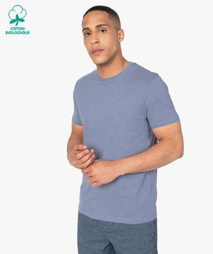 Tee-shirt homme à manches courtes uni vue1 - GEMO C4G HOMME - GEMO