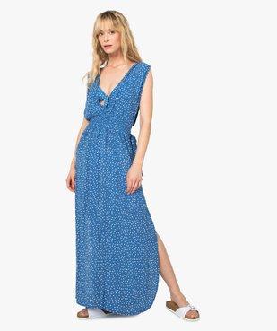Robe de plage femme imprimée longue et échancrée  vue1 - GEMO (PLAGE) - GEMO