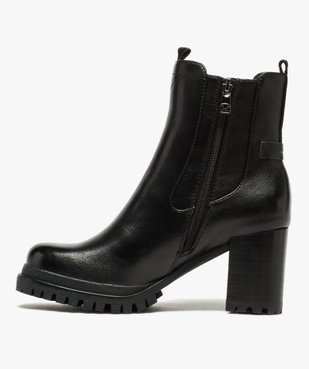 Boots femme à talon carré et tige unie – Tom Tailor vue3 - TOM TAILOR - GEMO
