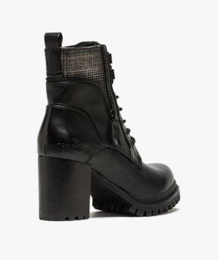 Boots femme à talon carré et semelle crantée – Tom Tailor vue4 - TOM TAILOR - GEMO