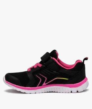 Baskets fille bicolores à lacets élastiques et scratch vue3 - Nikesneakers (ENFANT) - Nikesneakers