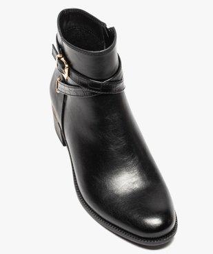 Boots femme unis à talon carré et finitions métallisées vue5 - GEMO (CASUAL) - GEMO