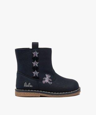 Boots bébé fille zippés à détails pailletés – Lulu Castagnette vue1 - LULU CASTAGNETT - GEMO