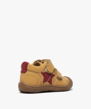 Chaussures premiers pas bébé garçon à scratch - Bopy vue4 - BOPY - GEMO
