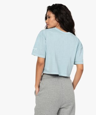 Tee-shirt femme crop-top style vintage - Camps vue3 - CAMPS UNITED - GEMO